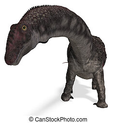 Dinosaur Diamantinasaurus. 3D rendering with clipping path ...