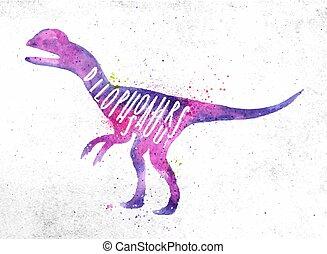 Dinosaur dilophosaur vivid