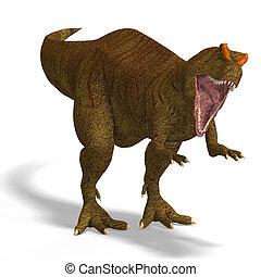 dinosaur - Giant Dinosaur Allosaurus With Clipping Path over...