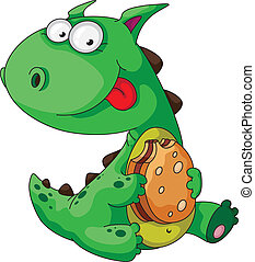 dinosaur eating - illustration of a dinosaur eating