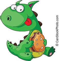dinosaur eating - illustration of a dinosaur eating