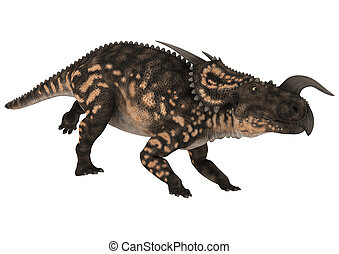 Dinosaur Einiosaurus - 3D digital render of a running...