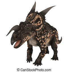 Dinosaur Einiosaurus - 3D digital render of a ceratopsian...