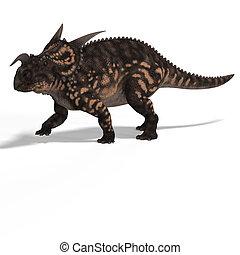 Dinosaur Einiosaurus With Clipping Path