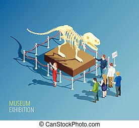 Dinosaur Exhibition Background Composition - Museum...