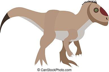 Dinosaur flat illustration on white