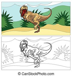 Dinosaur for coloring book