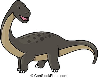 Dinosaur funny cartoon illustration