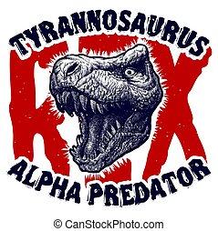 Dinosaur head Trex monster. Vector illustration eps8