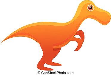Dinosaur icon, cartoon style