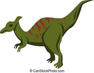 Dinosaur icon, isometric style