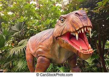 Dinosaur in a jungle