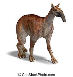 Dinosaur Macrauchenia - funny and curios dinosaur...