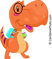 Dinosaur Mascot Student