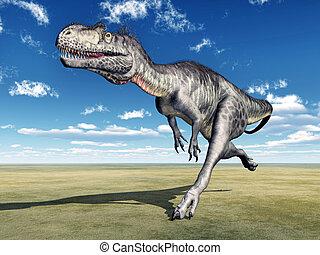 Dinosaur Megalosaurus - Computer generated 3D illustration...