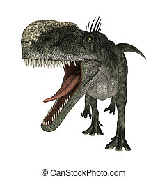 Dinosaur Monolophosaurus - 3D digital render of a hungry...