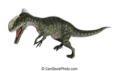 Dinosaur Monolophosaurus - 3D rendering of a dinosaur...