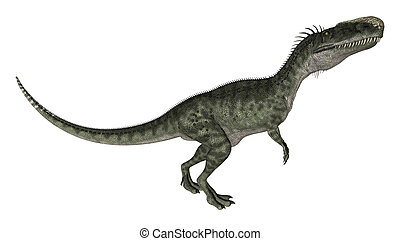 Dinosaur Monolophosaurus - 3D digital render of a curious...