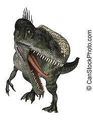 Dinosaur Monolophosaurus - 3D digital render of a hungry...