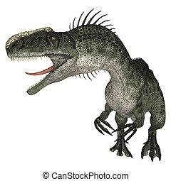 Dinosaur Monolophosaurus - 3D digital render of a dinosaur...
