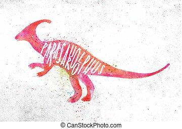 Dinosaur parasaurolophus vivid