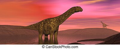 Dinosaur rgentinosaurus