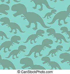 Dinosaur seamless pattern. Dino texture. Tyrannosaurus Rex Ornament. Prehistoric reptile pattern. Animal Jurassic with big teeth. Aggressive beast. Terrible evil lizard Polynesian era texture