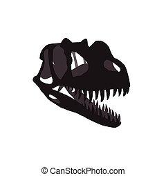 dinosaur skull vector