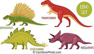 Dinosaur Species Icon Set