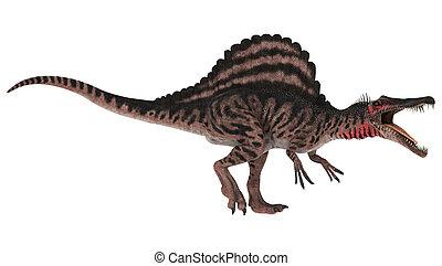 Dinosaur Spinosaurus - 3D digital render of an aggressive ...