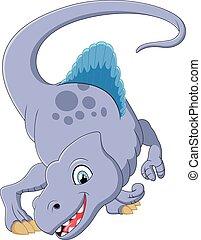 Dinosaur spinosaurus cartoon illust