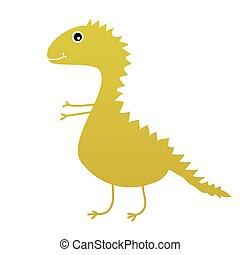 dinosaur sweet and cute vector illustartion