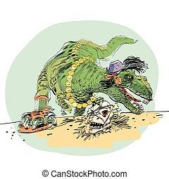 dinosaur t Rex female
