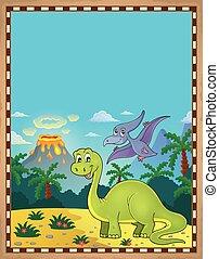Dinosaur theme parchment 1