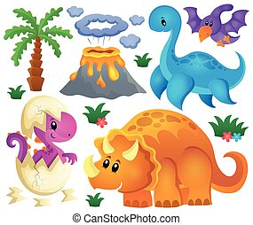 Dinosaur theme set 2 - eps10 vector illustration.