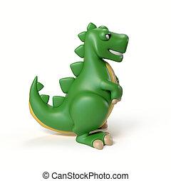 dinosaur toy 3d rendering