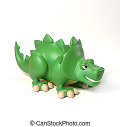 dinosaur toy 3d rendering isolated