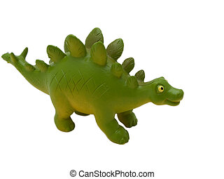 Stegosaurus - prehistoric era dinosaur on white