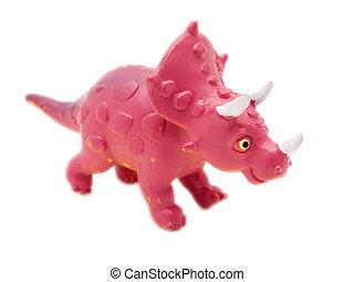 Triceratops - prehistoric era dinosaur on white