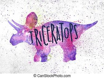Dinosaur triceratops vivid