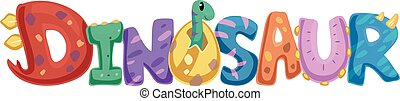 Dinosaur Typography