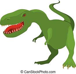 Dinosaur tyrannosaur icon, cartoon style
