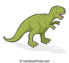 Dinosaur Tyrannosaurus Rex. Prehistoric reptile. Ancient...