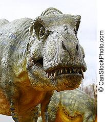 Dinosaur Tyrannosaurus rex - Vantaa, FINLAND - APRIL 22:...