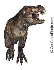 Dinosaur Tyrannosaurus - 3D digital render of a dinosaur...