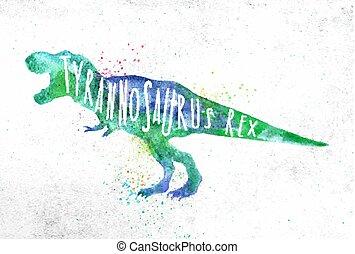 Dinosaur tyranosaurus vivid