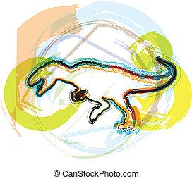 Dinosaur. Vector Illustration