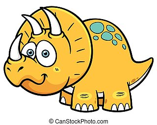 Dinosaur - Vector illustration of Cartoon dinosaur