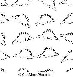 dinosaur vector, seamless
