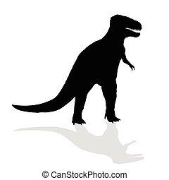 dinosaur vector silhouette